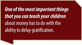 delay gratification